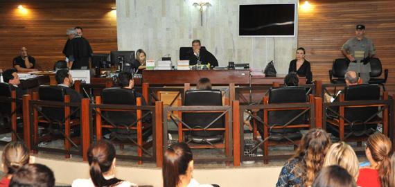 Tribunal do Júri de Goiânia: este foi o quarto julgamento por homicídio do acusado (Fotos: Hernany César)