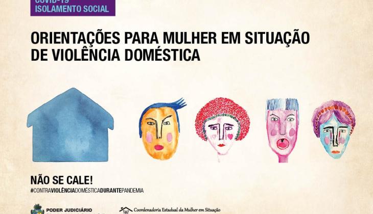 Coordenadoria da Mulher do TJGO lança campanha contra violência doméstica durante a pandemia do novo coronavírus