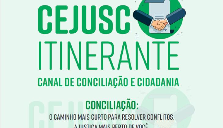 Semana Nacional da Conciliação: TJGO terá Cejusc Itinerante em cinco bairros de Goiânia