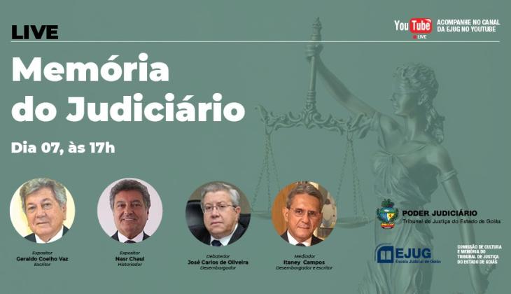 Live sobre Memória do Judiciário será realizada nesta sexta-feira, 7; as inscrições estão abertas