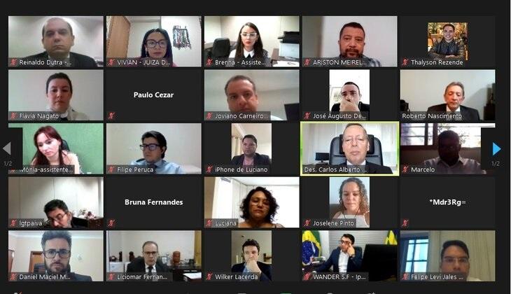 TJGO promove maior evento telepresencial em tribunais no Brasil, com realização de mais de 800 audiências para solução de demandas previdenciárias